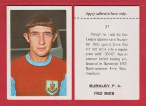 Burnley Fred Smith 27